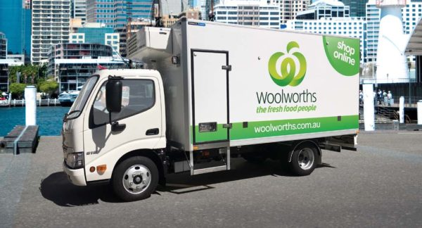 Woolworths Online Shopping delivery truck with a Thermaxx Advantage Body
